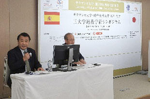 Vice President Hara of Gifu Pharmaceutical University and <br>Dr. Suzuki of Gifu University serving as moderators